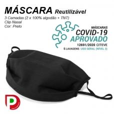 Máscara Reutilizável em Tecido COVID-19